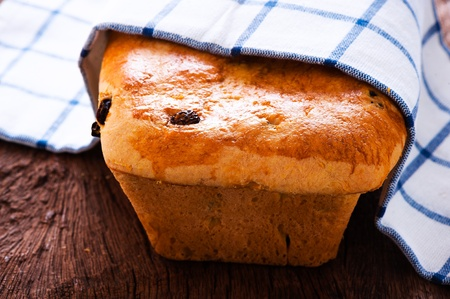 Fresh raisin bread as a studio shot photo