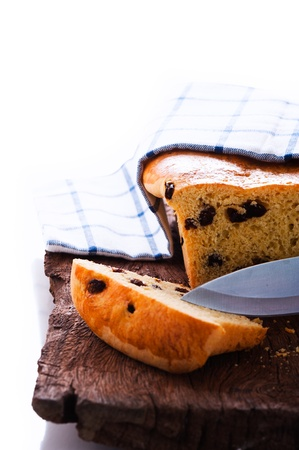 Fresh raisin bread as a studio shot photo