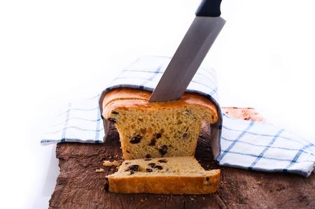 Fresh raisin bread as a studio shot Stock Photo - 12958859