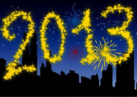 2013 New Years Eve greeting card Stock Photo