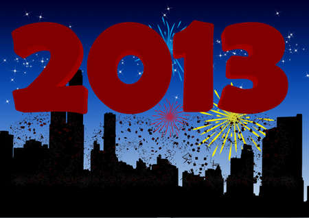 2013 New Years Eve greeting card photo