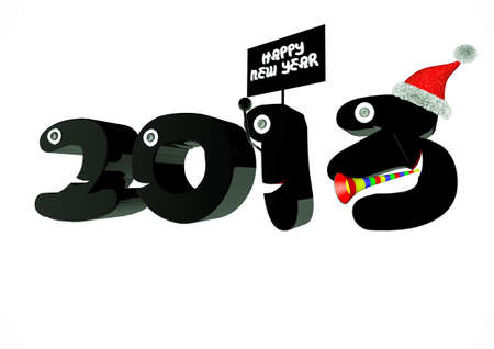 Funny 2013 New Year's Eve greeting card Stock Photo - 14852393