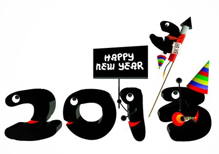 Funny 2013 New Year's Eve greeting card Stock Photo - 14852447