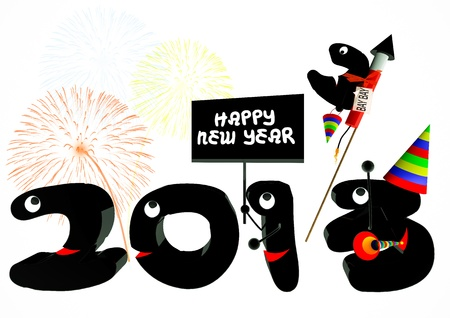 Funny 2013 New Years Eve greeting card Stock Photo