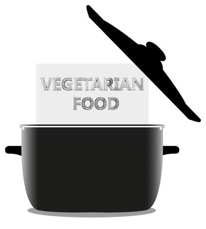 Kochtopf und weißen Blatt Papier für Ihren Text auf weißem Hintergrund Standard-Bild - 15989624