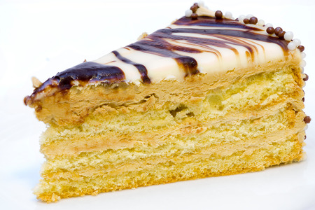 cake pick: A piece of delicious cafe latte cake