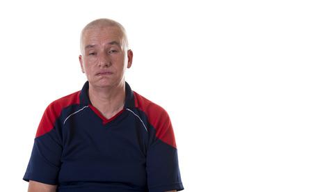 facial expression: A men with facial expression - bored