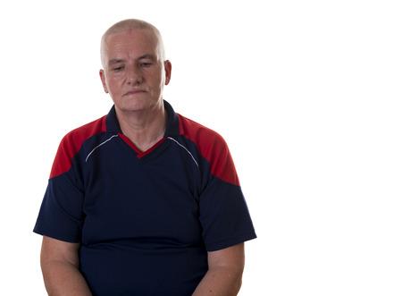 facial expression: A men with facial expression - unhappy