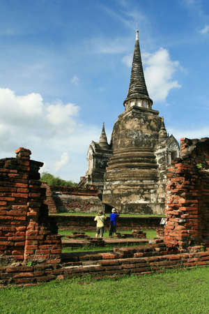 Temple in Ayutthaya, Thailand photo