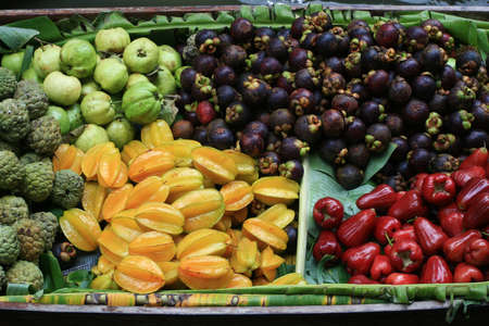 Fruit in Wooden Boats photo