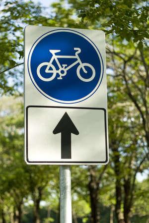 Blue Bike Sign photo