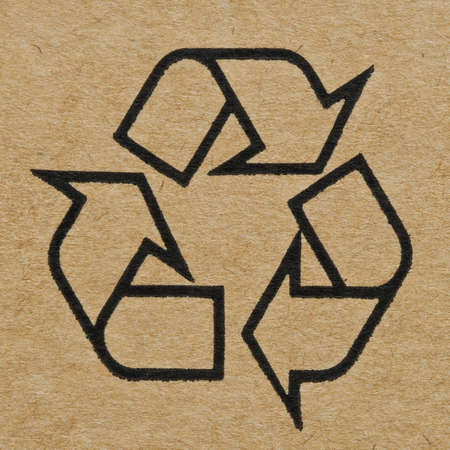 Recycling Mark on the Cardboard photo