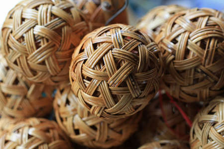 wickerwork: Woven wickerwork ball