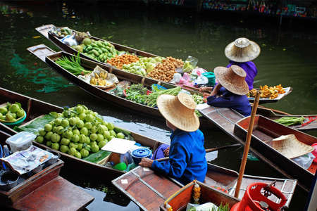 thailand view: Floating Market in Thailand  Stock Photo