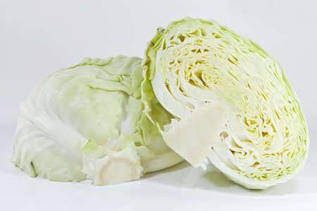 Cutting cabbage photo
