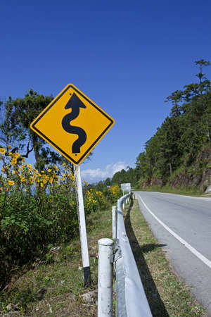 Curved Road Traffic Sign Stock Photo - 8319838