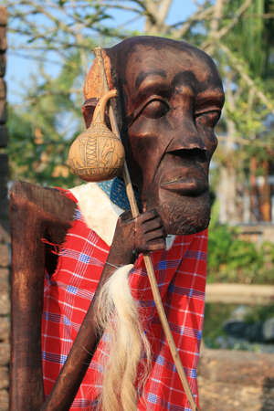 Male African wood carvings