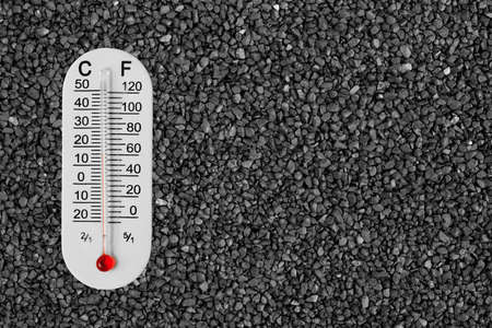 Thermometer on stone photo