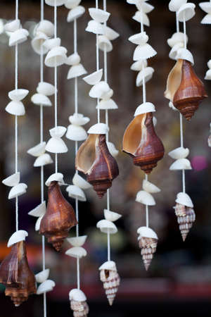 Handicrafts produced by sea shells  photo