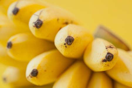 Close up of Yellow bananas photo