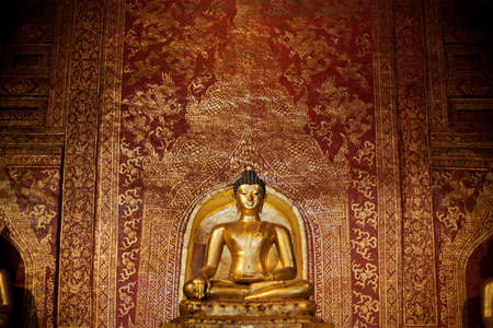 lambent: Golden Buddhas Images, Thailand Stock Photo