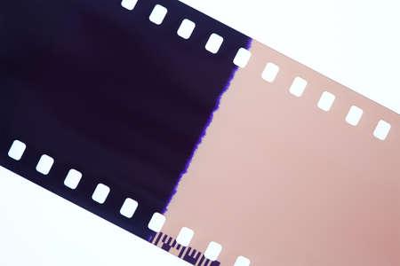 35 mm: Photography film isolated on white background Stock Photo