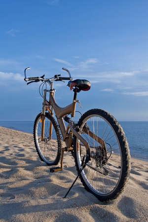 Bicycle at beach photo