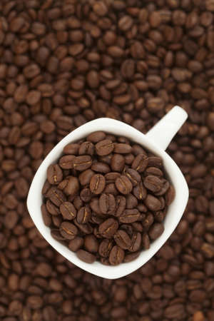 coffee beans in a cup photo