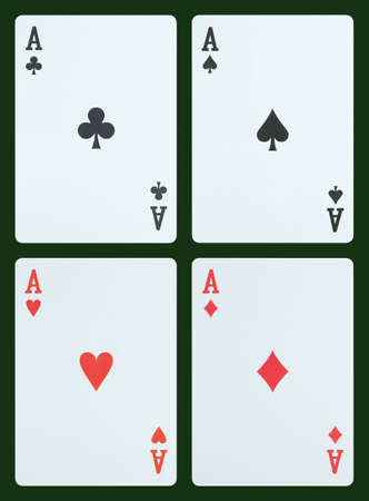 ace hearts: Playing cards - Aces