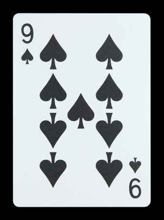 Playing cards - Nine of spades photo