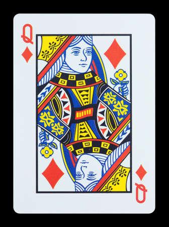 Jeu de cartes - Queen of Diamonds Banque d'images - 17036763