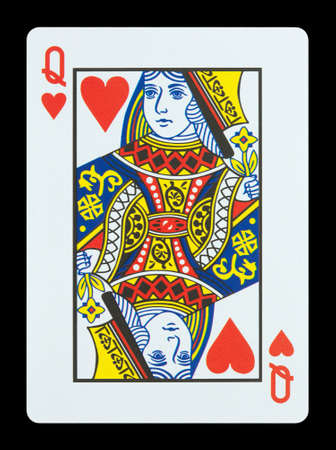 Playing cards - Queen of hearts Editorial