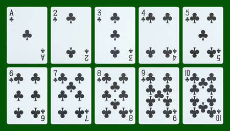 Playing cards - clubs photo
