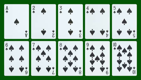 Playing cards - spades photo