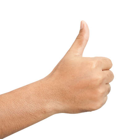 Hand with thumb up isolated on white background Stock Photo - 17274802