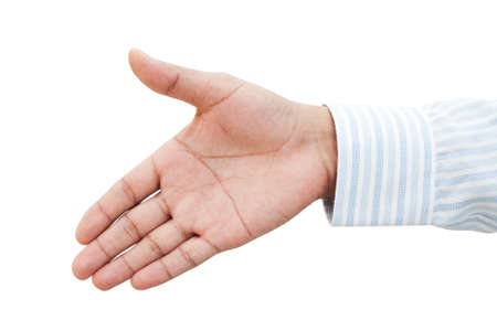 Businessman holds out his hand for a handshake Stock Photo - 17455008