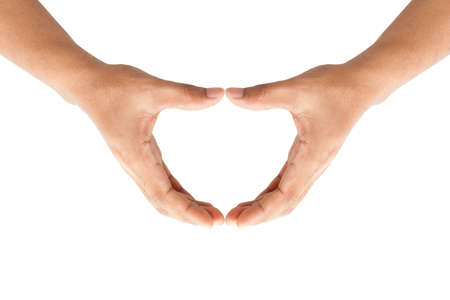 Human hands forming a heart Stock Photo - 17455004