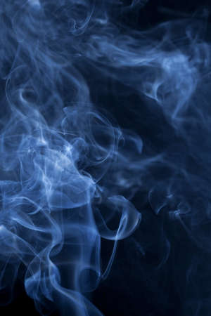 cigarette smoke: Smoke on the black background
