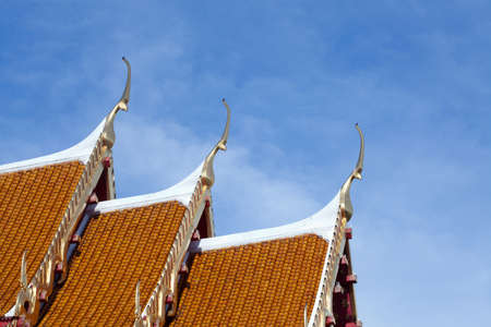 Thai Temple Roofs photo