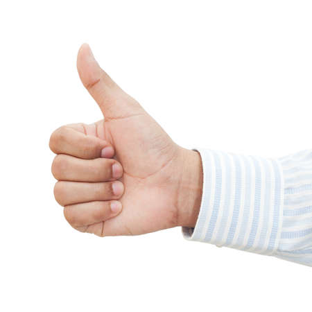 A businessman's hand showing thumb up Stock Photo - 19843414