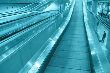 The airport escalator photo