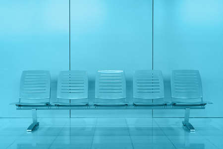 Row of chair in modern office building photo