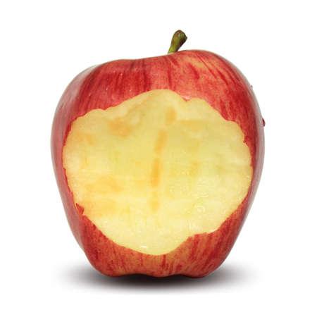 bitten: Bitten red apple