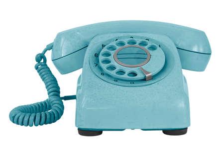 Altes Telefon isoliert auf weiß Standard-Bild - 28037395