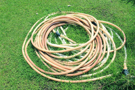 water hose: Old water hose
