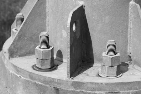 flange: B&W pipe flange with bolts