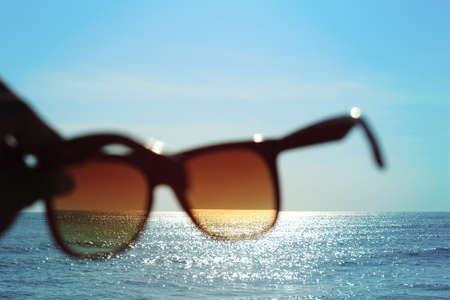 Summer day with the sunglasses Stock Photo