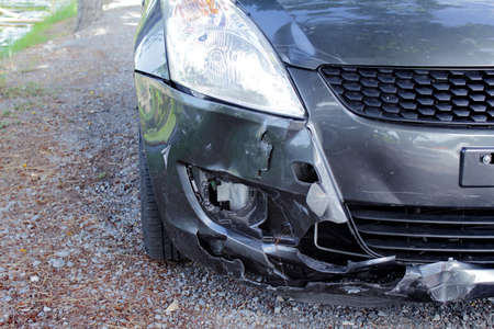 Car crash accident Stock Photo