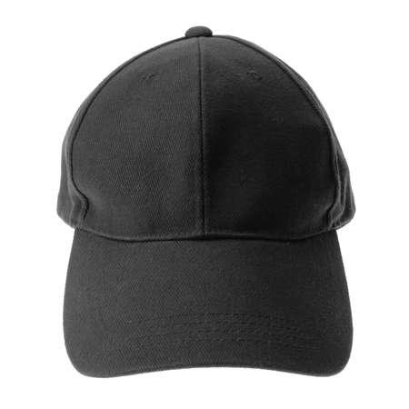 baseball caps: Black cap isolated on white Stock Photo