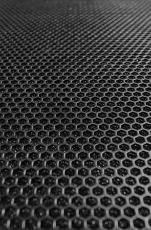 Close up of speaker grille background Stock Photo